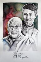 Varys and Petyr Baelish by csillabold