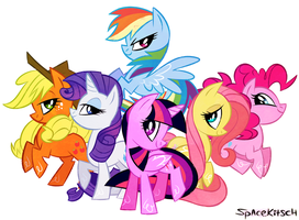 pony friends assemble by spacekitsch
