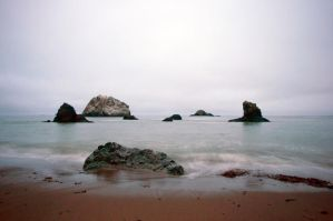 Cloudy Sea Stock by little-spacey