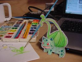 Paper Bulbasaur by pettyartist