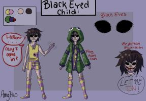 (OLD)Creepypasta OC - Annie Reference Sheet by Amyhip