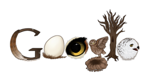 Google Logo - Owls by SuperSpace