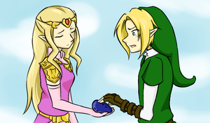 Link, give the ocarina to me. by Ask-Link