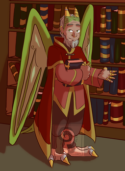 Arthur in his Library by curiousdoodler