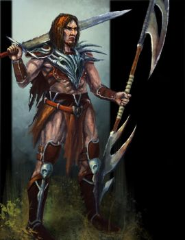 Dragon warrior barbarian dude (painterly) by feenixfabay