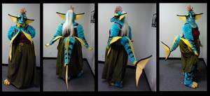 Water Dragon partial by FeralFacade