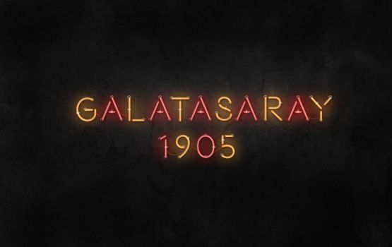 Galatasaray Neon Effect Letters by dabbex30