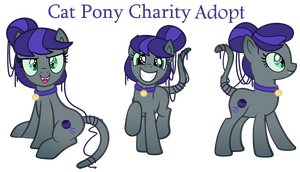 Cat Pony - Charity Adoptable - SOLD by MonkFishyAdopts