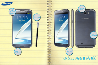 Samsung Galaxy Note II N7100 - infographic by Mitsuoka123