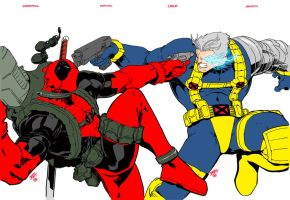 Deadpool vs cable by bbbhyt