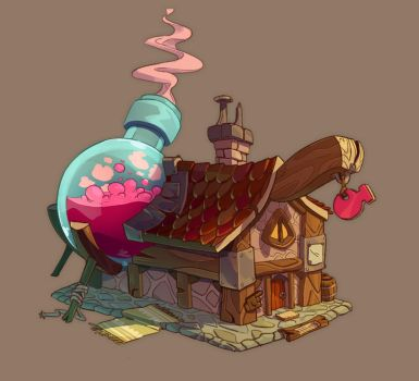 Little Potion Shop by HideTheOrange