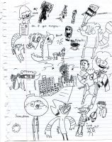 Class doodles 4 by BucketOfFail