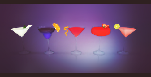Party Cocktail  Set [Download Link] by tweekcrystal