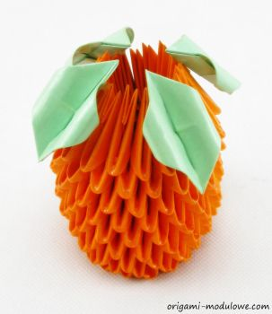 Modular Origami Orange by origamimodulowe