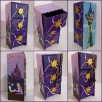 Tangled Rapunzel handpainted jewelry box by Macca4ever