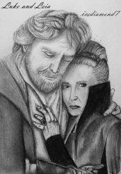 Luke and Leia by icediamond7