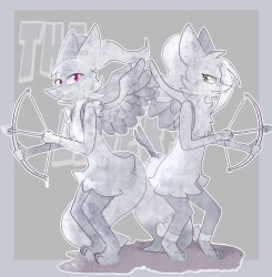 Vesta and Eleanor as statues by VolcanoElement
