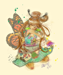 Butterfly Princess Revisited by mangolyte
