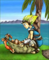 Winter-Een-Mas: Jak and Daxter by o0NeonCola0o