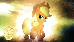 AppleJack is Best Pony HD Wallpaper by Jackardy