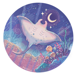 moonlight manta by Paleona