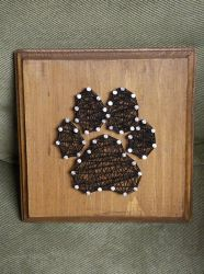 4 x 4 Paw Print string art by LunaRaeB