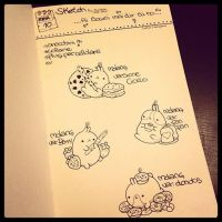 Molang Sketch by AyumiDesign
