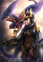 Quinn and Valor by monkeyyan