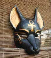 Anubis Mask with Ankh Symbol by nondecaf