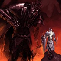Morgoth and Fingolfin by ShadCarlos