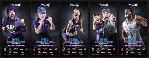 Final 4 basketball tournament banners by neverdying
