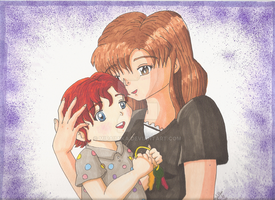The mother and daughter bond by MiraiMika
