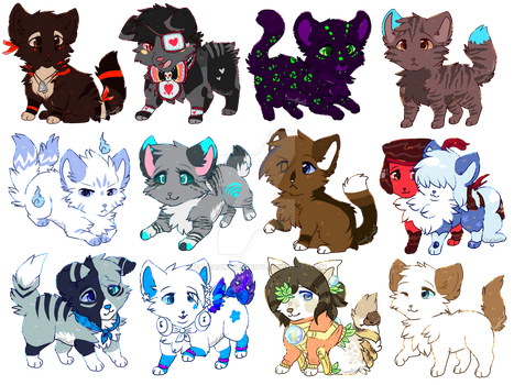 Giveaway Chibis by CascadingSerenity