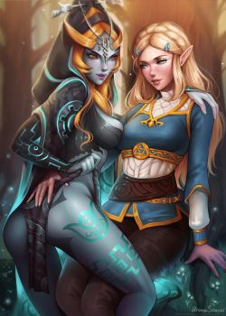 Zelda breath of the wild x Midna twilight princess by aromasensei