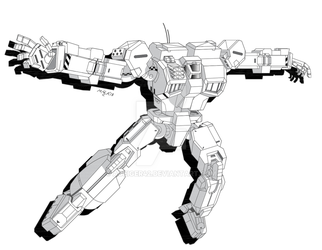 Shadowhawk IIC Ver 2.0 - Battletech by AGeiger42