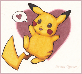 Pikachu, I Love You! by Dotted-Quaver