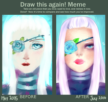 Draw this again meme - Miss Blue by tinyhito