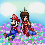 Floral Love ~Mario X Princess Lovestar~ (Request) by YessieMaltese