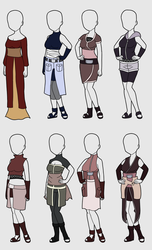Outfit Adoptables 2 :4 Left: by BlossomPeanuts