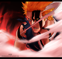 Bleach 675 - ichigo's new form by The-103