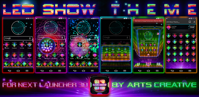 NEXT LAUNCHER 3D THEME LED Show by ArtsCreativeGroup