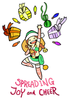 Smite - Spreading Joy and Cheer (Chibi) by Zennore