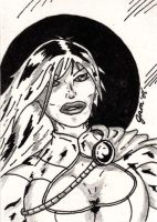 Power Girl Sketch Card by jamsketchbook