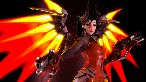Overwatch (17 - Devil Mercy [B]) by AdeptusInfinitus
