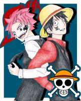 [Crossover Contest] Natsu and Luffy Dreamteam by xXxCheekyCandyxXx