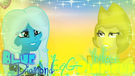 Yellow And Blue Diamond EqG (Effects) by ForeverBunkey123