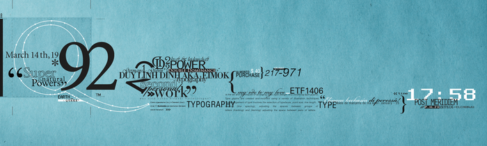 Typography by eiMOK