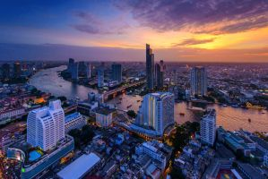Bangkok River View by porbital