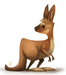 DAY 460. Kangaroo by Cryptid-Creations