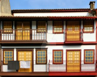 Typical houses of Guimaraes by vmribeiro